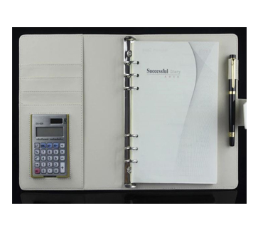 Offering leather notebook wh