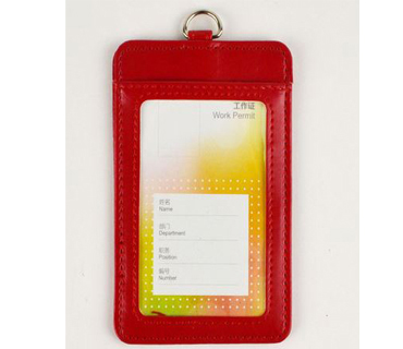 Offering leather travel tag/