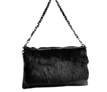 Real hourse fur leather ladies shoulder bag ( H80221)