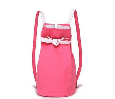 Canvas round shape backpack bag ( H80298)
