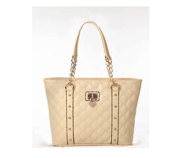 Metal studs leather tote bag ( H80315)