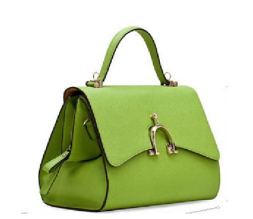 Fashion green leather Satchel Bags ( H80310)
