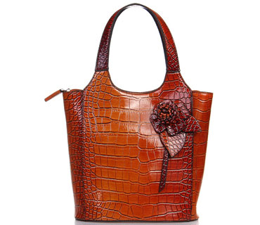 Crocodile leather handbag (