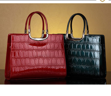 Fashion Glossy women tote ba