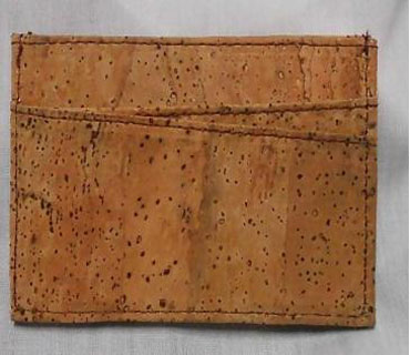 Cork business card holder  (