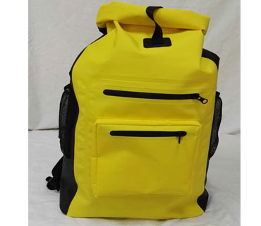 Hot sale heavy duty 500 D pvc waterproof backpack with water