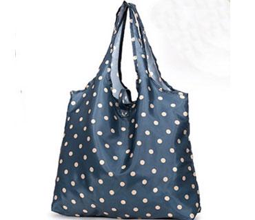 Polyester Dots printing Foldable Shopping Bag ( CK037 )