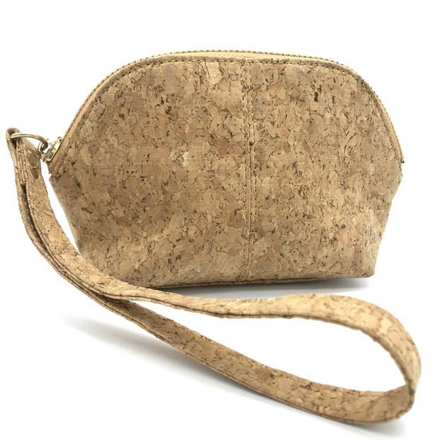 Natrual cork  clutch purse (