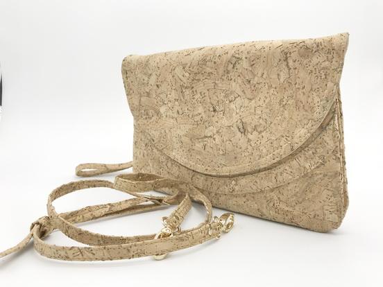 Cork cross body clutch bag (