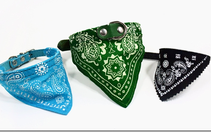 New pet bandana with loop and hook