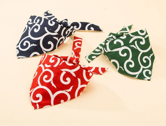 Lovely Fabric Pet bandana wh